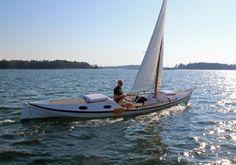 """Faering Cruiser   22'6"""" Rowing-Sailing Pocket Cruiser"""