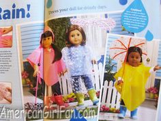 make poncho and umbrella for AG doll plus issue has duct tape craft ideas.