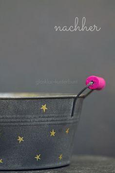 plant pot DIY gold+pink
