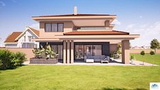House Plans South Africa, Greek Revival Home, Model House Plan, House Front Design, Dream House Exterior, Sims House, Facade House, House Layouts, House Colors