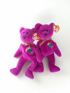 9ba48eeaaa3 Millenium Ty Beanie Baby (Millennium) Bear with errors VERY RARE! 4  Spelling Errors