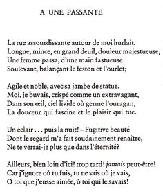 A une passante/To A Passer-By-Charles Baudelaire