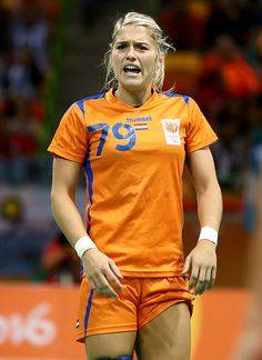Estavana Polman of Netherlands reacts to a call in the first half against…