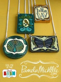 """Handmade wooden jewelry in a vintage palette - the perfect combination of #Hannah colors & #DIY aesthetic"" -Jenn Rogien"