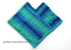 Crochet Pattern for Poncho Shawl, Sea Glaze, PDF image 0 Crochet Baby Poncho, Crochet Poncho Patterns, Crochet Edgings, Freeform Crochet, Crochet Tops, Thread Crochet, Crochet Motif, Crochet Shawl, Crochet For Kids