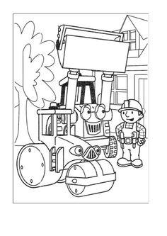 Byggmester Bob Fargelegging for barn. Tegninger for utskrift og fargelegging nº 27