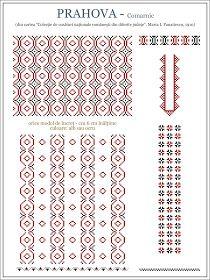 Folk Embroidery Patterns maria - i - panaitescu - ie PRAHOVA Comarnic. Blackwork Embroidery, Folk Embroidery, Embroidery Stitches, Embroidery Patterns, Cross Stitch Designs, Cross Stitch Patterns, Wedding Album Design, Embroidery Techniques, Cross Stitching