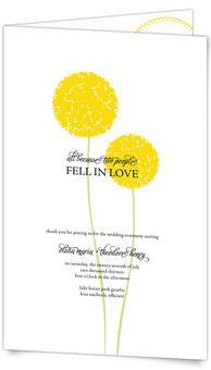 Patterned Billy Ball - Half-fold Wedding Program by MagnetStreet