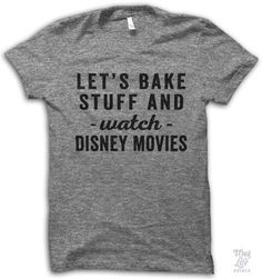 "This shirt in Small would be the perfect snow day lounge wear! (It could also say ""Let's drink beer and watch Disney movies."""