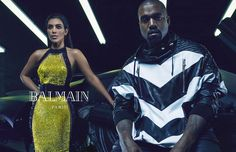 Kanye West and Kim Kardashian West Are the New Faces of Balmain - Gallery - Style.com