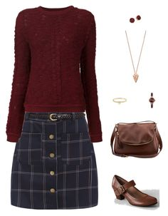 """""""Going to the library"""" by staceyissassy ❤ liked on Polyvore featuring Sea, New York, Pamela Love, Tom Ford, Lands' End, Lauren Ralph Lauren, Emporio Armani and Michael Kors"""