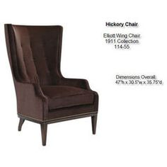 Attirant Hickory Chair   Elliott Wing Chair 30.5 Wide And 36 Deep