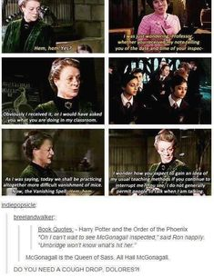The Sass Queen, McGonagall. Doing a photo spam on funny harry potter memes as suggested by Mariah Priscilla Martinez. Harry Potter Jokes, Harry Potter Universal, Harry Potter Fandom, Harry Potter World, Funny Harry Potter Pictures, Harry Potter Tumblr Funny, Sassy Harry Potter, Satire, Fangirl