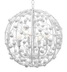 Celeste Sphere... Just think of it as a funky disco ball, our Celeste Sphere will bring lots of light to your party. Dance the night away under this pendant painted in any of our hand selected Benjamin Moore low VOC paint colors. Handmade in Mexico, papier mache.