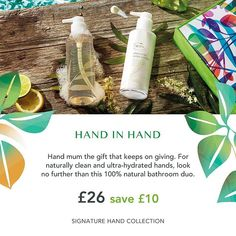 Another lovely treat for your mum this Mother's Day, our fabulous Signature hand care collection. 🌼  Contains hand wash and hand lotion, both in 'handy' 😉 pump bottles. 👌 #mothersday #giftideas #naturalbeauty #naturalskincare #vegan #veganskincare #healthandbeauty #gift #handcare
