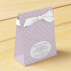 Elegant Trellis Pattern Lavender Thank You Wedding Favor Box - rustic gifts ideas customize personalize