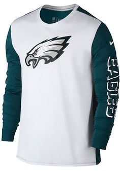 Nike Philadelphia Mens White Champ Drive 2.0 Performance Tee Philadelphia  Eagles T Shirt 044ab709b