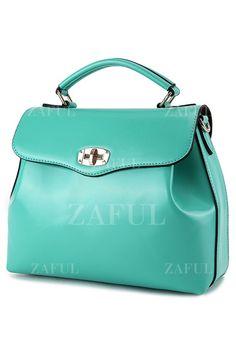 Candy Color Hasp Tote Bag #handbag #green #tote $27 #vegan #leather #shoulder #bag #accessories #fashion #style #womensfashion #zaful #mystylespot #pinoftheday #womensfashionblogger