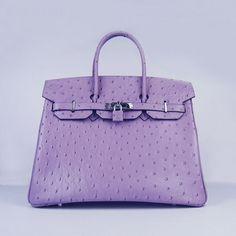 Hermes-Birkin-Bags, purple ostrich