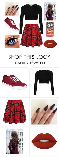 """""""Untitled #569"""" by alicia-brockett ❤ liked on Polyvore featuring Vans, Ivy Park, Lime Crime and Casetify"""