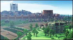 Kings Landing (from Game of Thrones) recreated in Minecraft