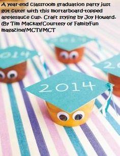 #kindergarten graduation dessert idea using fruit or applesauce cups.. see how here!