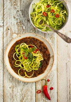 Black Bean Bolognese with Courgetti