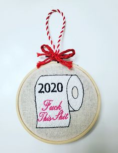 Custom Christmas Embroidery Ornaments Embroidered Christmas Ornaments, Funny Christmas Ornaments, Christmas Embroidery, Christmas Humor, Handmade Christmas, Funny Embroidery, Hand Embroidery, Machine Embroidery, Different Fabrics