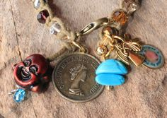 Cute Bohemian bracelet with faceted glassbeads and coin and Buddha charm - UNCHAIN MY HEART - Bohemian jewelry & African jewelry by DazzlingDivaJewels on Etsy, $49.00  Designed & Created by Patrice