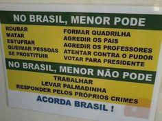 Menor no Brasil.