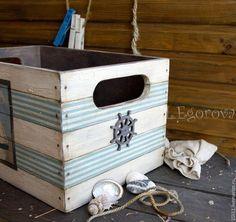 """Купить Ящик для хранения """"МОРСКОЙ"""" - разноцветный, ящик для хранения, ящик для овощей, ящик для игрушек"""