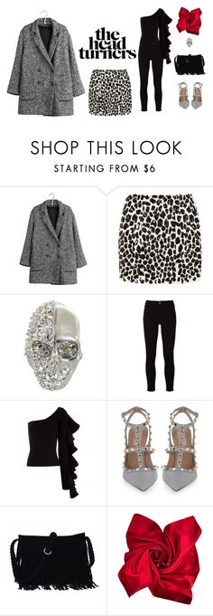 """fashion in grey"" by leina-elansary on Polyvore featuring IKKS, Skaist Taylor, Alexander McQueen, Frame, Beaufille and Valentino"