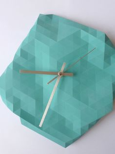 Faceted Wall Clock by RawDezign on Etsy, £45.00