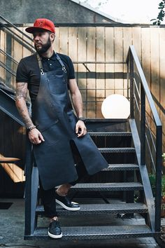 """Thanks for the kind words! ★★★★★ """"Great Aprin with premium quality I recommand the seller"""" Bill B. #housewares #etsy #black #leather #apron #barista #cowhide #baristaapron #hairdresserapron #leatherapron"""