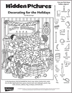 Decorating for the Holidays Hidden Pictures Puzzle                                                                                                                                                                                 More