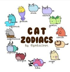 Pusheen as the zodiac signs Zodiac Signs Animals, Zodiac Signs Chart, Zodiac Signs Astrology, Zodiac Memes, Zodiac Star Signs, Zodiac Horoscope, Cat Signs, Funny Signs, Chinese Zodiac Signs