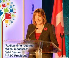President Debi Daviau opening speech at the #PIPSC2015 AGM. Discours d'ouverture de notre présidente #IPFPC