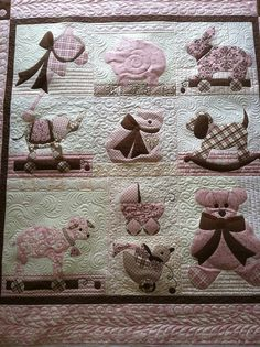 Sweetness itself.  Great quilting by Jessica's Quilting Studio