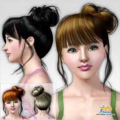 Emma's Simposium: Free Hair Pack #210 By PeggyZone - Donated/Gifted ...