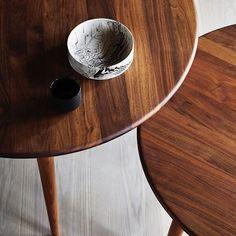 Discovering beautiful surfaces  Hans J. Wegner's CH008 Coffee Table in oil-treated walnut #Wegner #carlhansenandson #DanishDesign #Icons #Craftsmanship