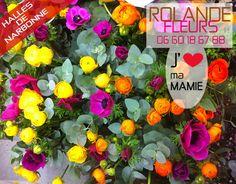 Fête des Grands-mères ou fête des mamies dimanche 1er mars 2015 . Fleurs de saison de pays. Rolande votre fleuriste aux halles de Narbonne est heureuse de vous accueillir dans son étal de fleurs pour la fête des grands-mères. Vous aimez beaucoup vos mamies. Offrez-lui un bouquet art et nature, gracieux et séduisants aux compositions les plus raffinées.  http://www.rolande-fleurs-halles-narbonne.com/