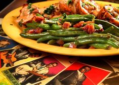 GREEN BEANS Highway 61 Roadhouse and Kitchen Recipe 4 tablespoons bacon grease 1/2 cup red onion, diced 1 pound frozen haricot verts...