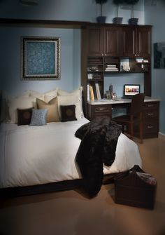 Saint Louis Closet Co. Murphy Bed and small desk area, perfect for any spare bedroom.