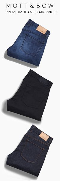 Handcrafted premium quality jeans. See our website for our free home try-on program. #MottAndBow