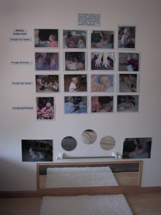 Infants: mirrors & documentation at children's height level - at Boulder Journey School