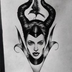 Resultado de imagem para malevola tattoo
