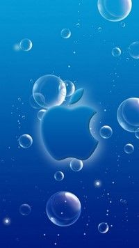 iPhone 7 Wallpapers Bubbly Blue under water