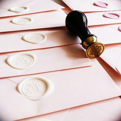 wax seal in palest pink