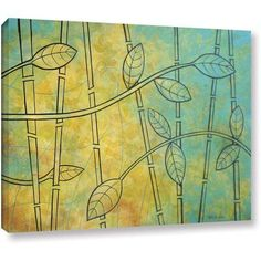 Herb Dickinson Happy Jungle Gallery-Wrapped Canvas, Size: 24 x 32, Orange