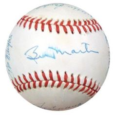 New York Yankees Old Timers Autographed AL Baseball With 18 Signatures Including Don Mattingly, Dave Winfield & Billy Martin PSA/DNA #K39500